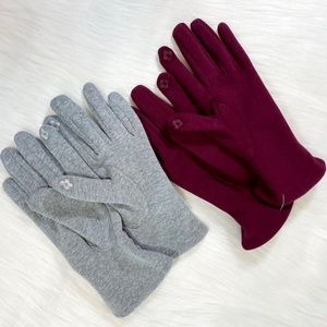 Fleece Lined Gloves Phone Text Stretch Womens